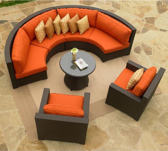 Round outdoor sectional sofa for Sofa exterior conforama