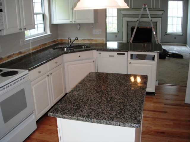 New Caledonia Granite Simple Stone Select Countertops For White Cabinets  Traditional Kitchen