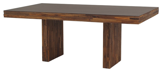 unfinished kitchen cabinets landon mixed wood dining table 76 quot rustic dining 3038