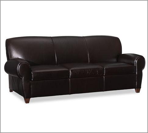 Manhattan Leather Sleeper Sofa Modern Sleeper Sofas by Pottery Barn