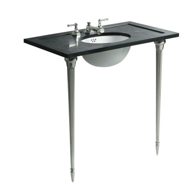 bathroom sink legs kallista brushed nickel for town by michael s smith 11354