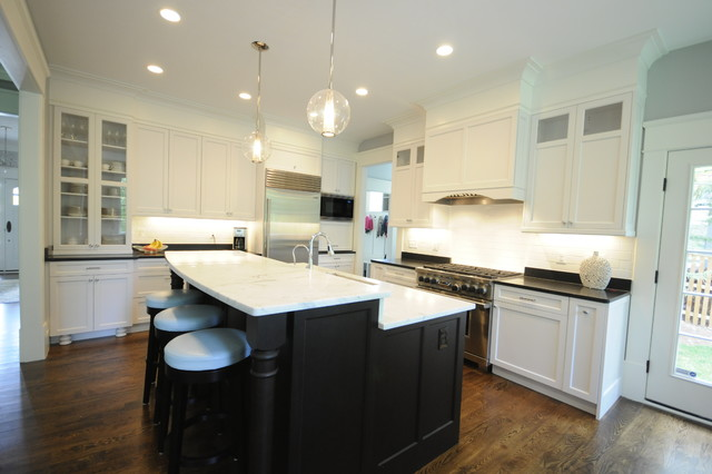 espresso and white kitchen cabinets white and espresso kitchen traditional dc metro by 15173
