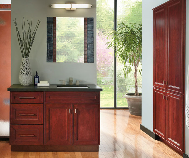 schrock bathroom cabinets cherry bathroom vanity schrock cabinetry bathroom 14356