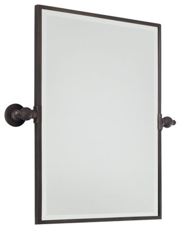 minka lavery rectangle pivoting bathroom mirror 16358