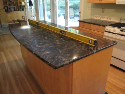 I have black granite countertops and natural maple ... on Maple Cabinets With Black Granite Countertops  id=22482