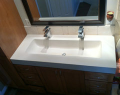 how to set a kitchen sink master bathroom sink one or two sinks 8901