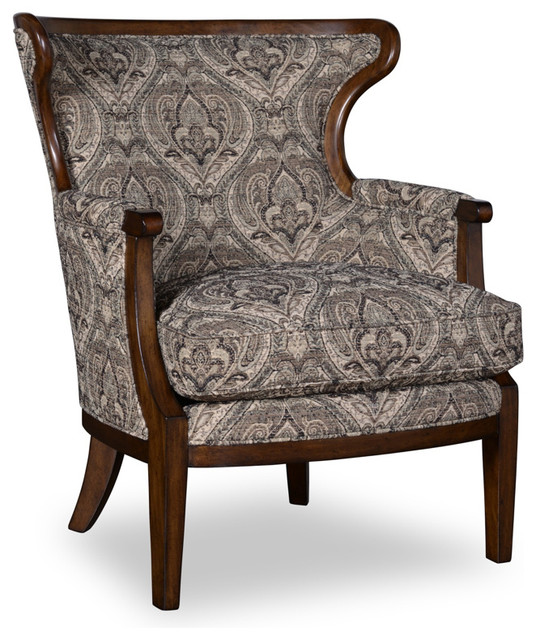 traditional accent chairs living room a r t wood trim accent chair in loden traditional 23291