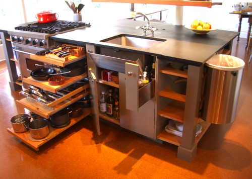 10 big space saving ideas for small kitchens - Space saving cabinet ideas ...