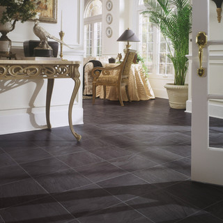 how to tile a kitchen floor on concrete black slate laminate floor traditional by dupont 9838