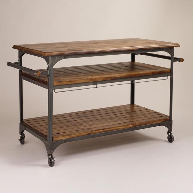 Jackson Kitchen Cart - Modern - Kitchen Islands And ...