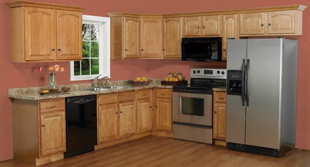 ginger maple kitchen cabinets cathedral honey 24x84 wall pantry modern pantry 15800