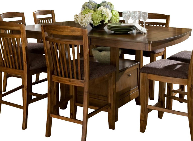 Homelegance Marcel Butterfly Leaf Counter Height Table ...