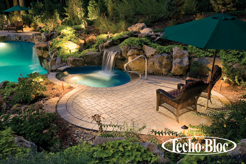 Tropical Hot Tub And Pool Supplies By Pen Argyl Stone Pavers Concrete Techo Bloc