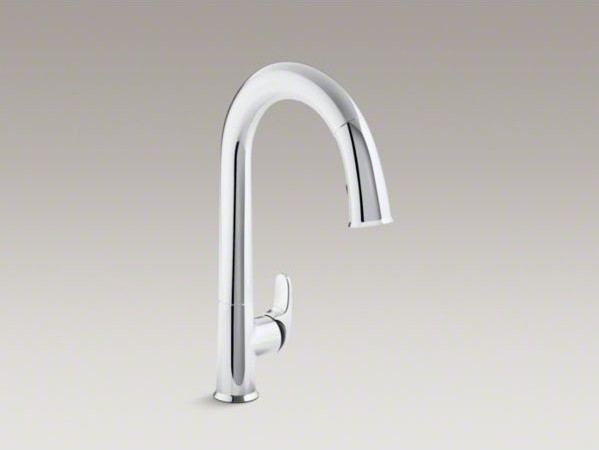 sensate touchless kitchen faucet kohler sensate tm touchless kitchen faucet with black accents 15 1 2 quot pull dow contemporary 8265