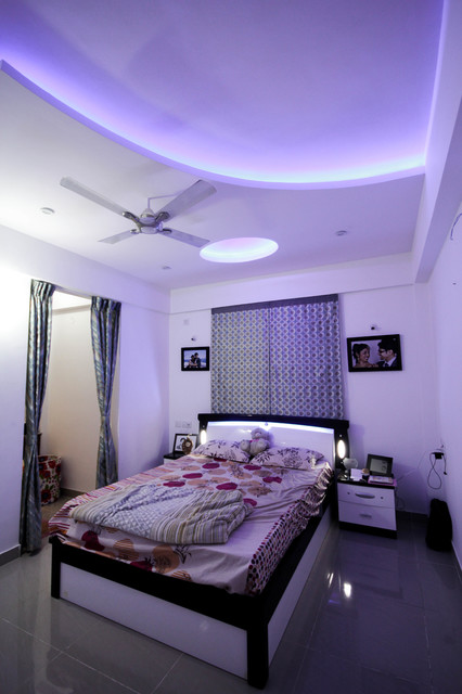 Blue False Ceiling - Contemporary - Bedroom - other metro ...