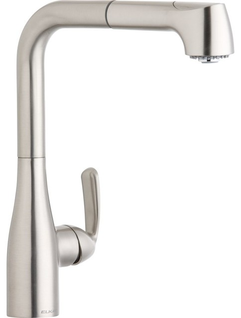 kitchen faucet gpm 1 5 gpm l spout kitchen faucet brushed nickel 13133