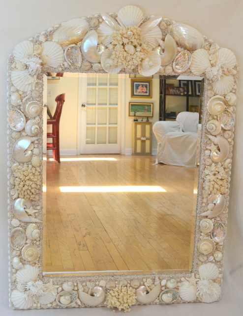 shell bathroom mirror sea shell mirrors tampa by kendall designs 14394