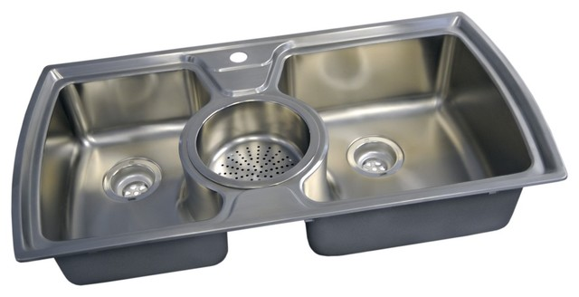 3 bowl kitchen sinks dropin bowl kitchen sink eclectic kitchen sinks 3853