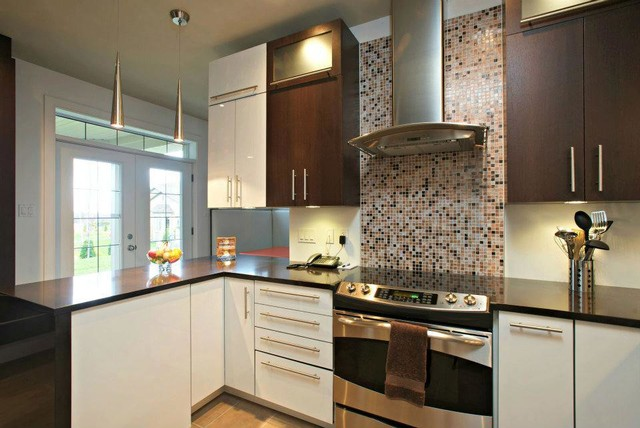 modern white and brown kitchen design modern brown and white kitchen modern kitchen 759