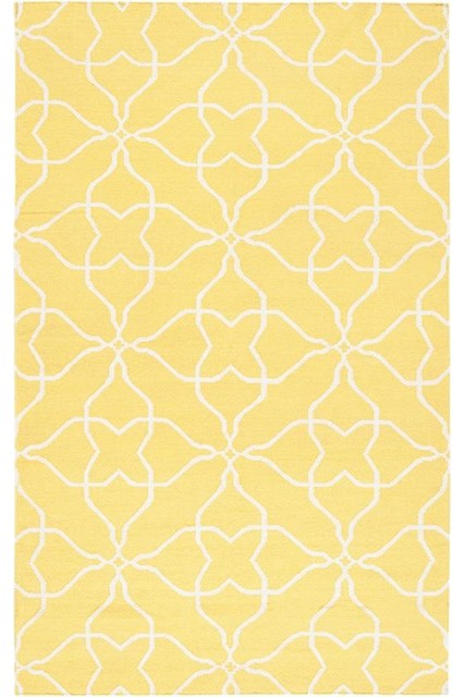 Yellow Hattie Area Rug Contemporary Rugs By Home Decorators