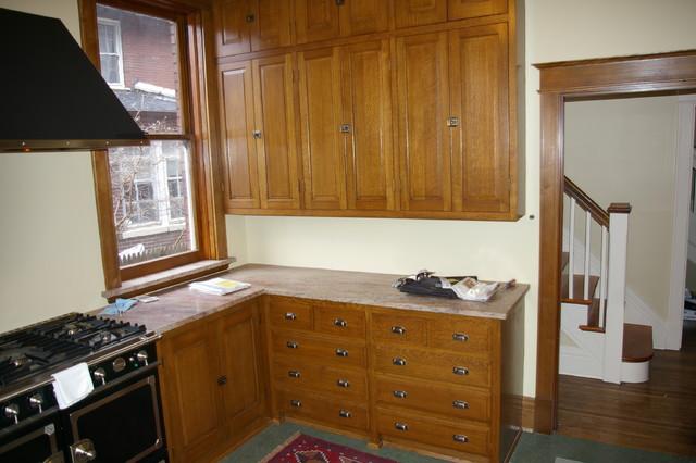 Quarter sawn oak kitchen - Traditional - Kitchen - st ...