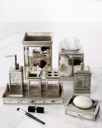 mirrored bathroom accessories sets kassatex quot palazzo vintage quot vanity accessories 19508