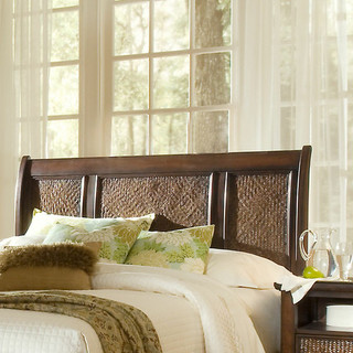 Kingston Isle Sleigh Headboard on the Carlisle Wide Plank Floors Blog