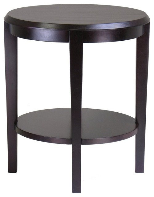 Winsome Wood Nadia End Table Dark Espresso contemporary side tables and end tables