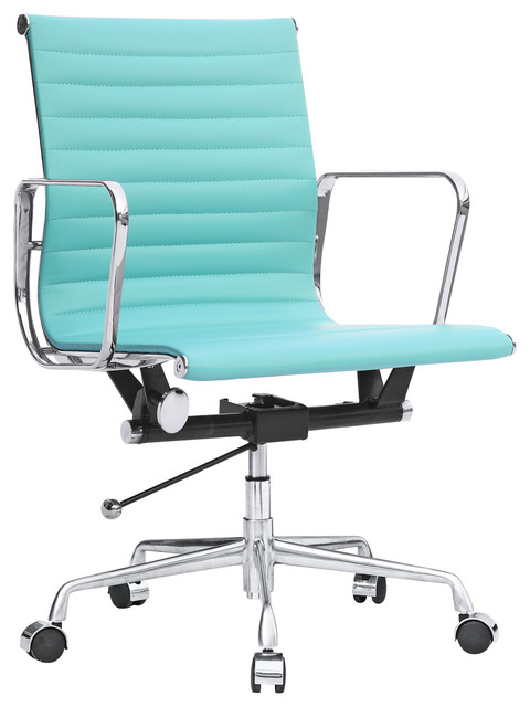 kardiel classic 1958 lider ribbed mid back aluminum office 87869