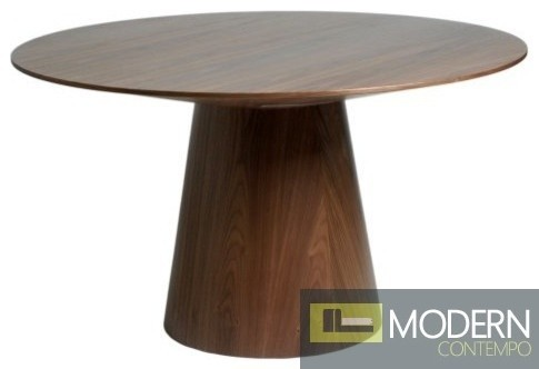 Modern Round Wood Dining Table Loris Decoration