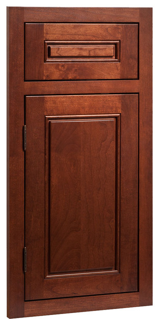Fairmont Cherry Russet Stained Wood Shaker Kitchen Cabinet ...