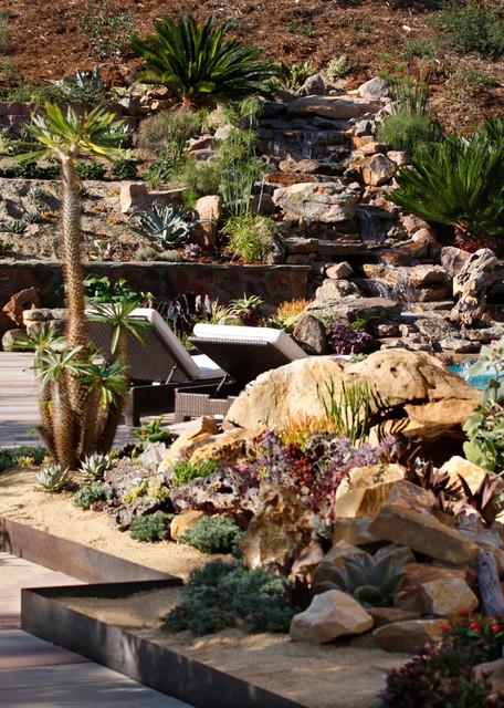 Backyard Hill Landscape Design Ideas, Carlsbad, CA ... on Hill Backyard Ideas id=29739