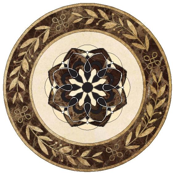 Floor medallions marble floor matttroy for Wood floor medallions inlay designs
